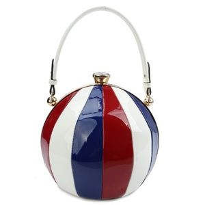 Handbags - Beach Ball Satchel Cross body Bag Purse Glossy
